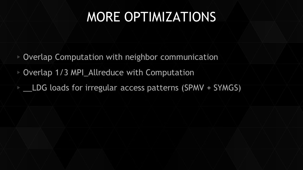More Optimizations Overlap Computation with neighbor communication