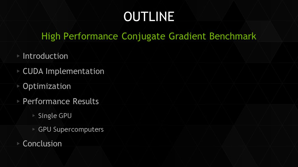 High Performance Conjugate Gradient Benchmark