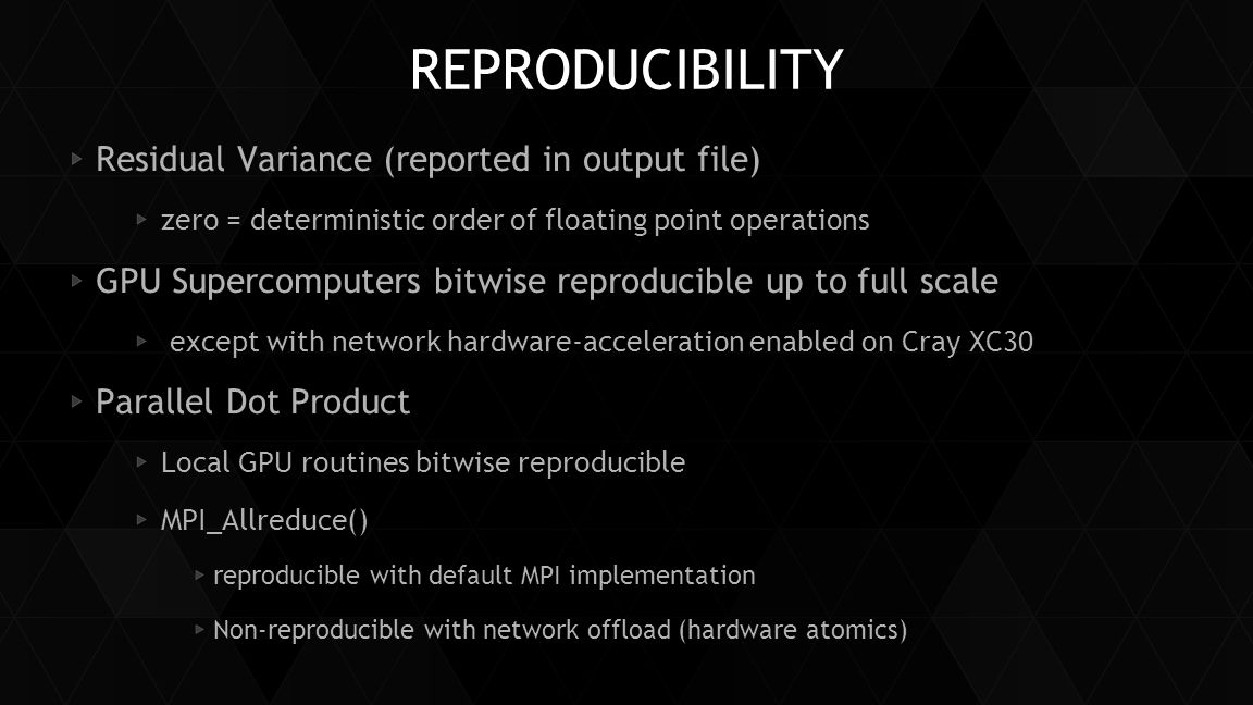 Reproducibility Residual Variance (reported in output file)