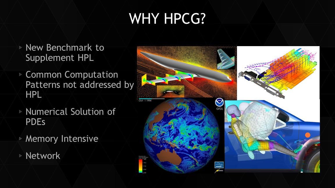 Why HPCG New Benchmark to Supplement HPL