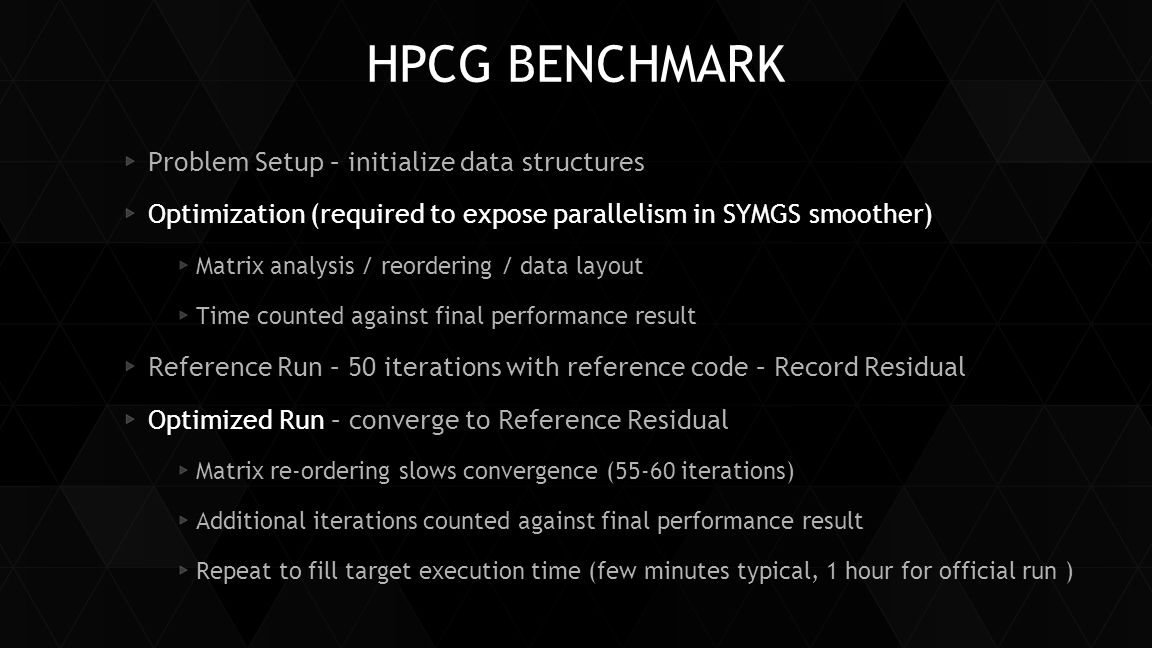HPCG BENCHMARK Problem Setup – initialize data structures