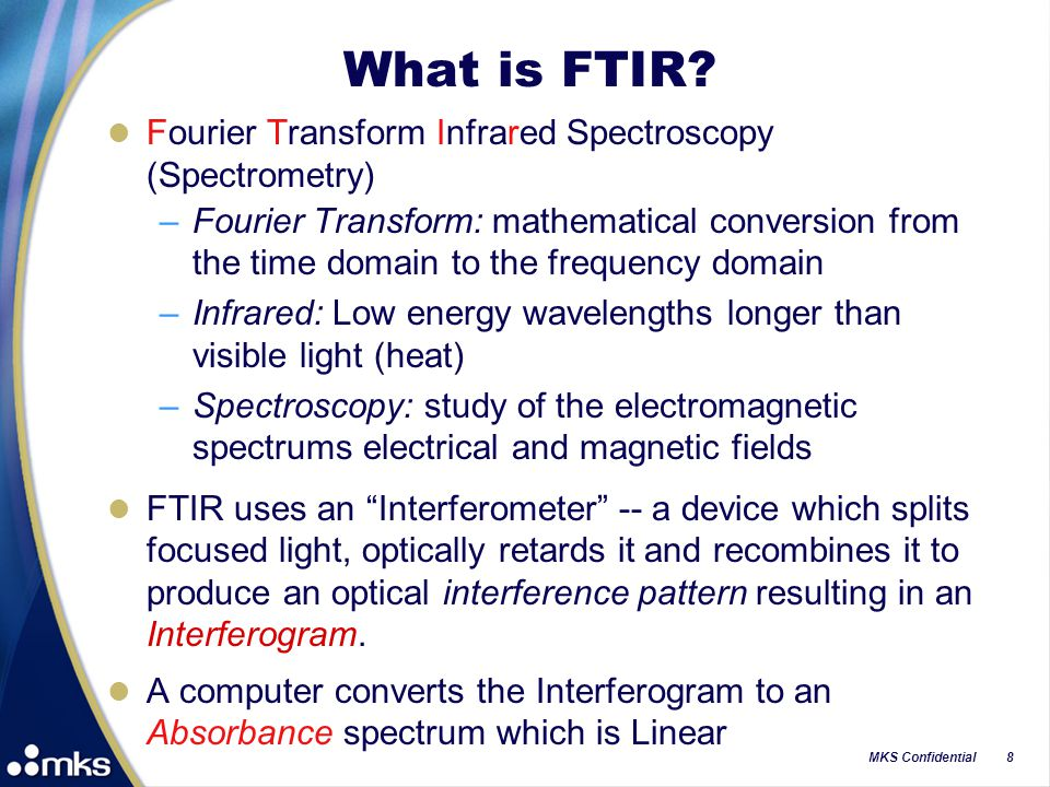 What is FTIR Fourier Transform Infrared Spectroscopy (Spectrometry)