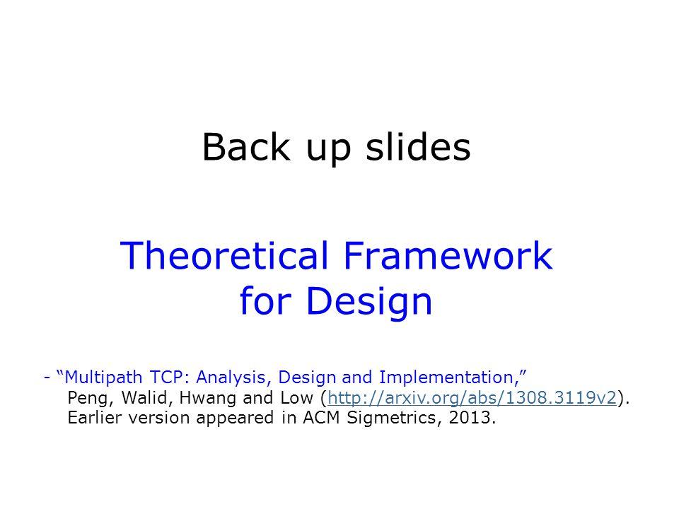 Back up slides Theoretical Framework for Design
