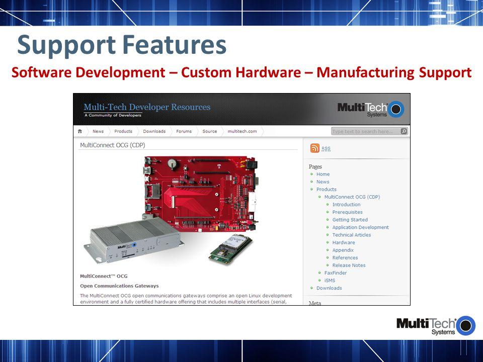 Software Development – Custom Hardware – Manufacturing Support