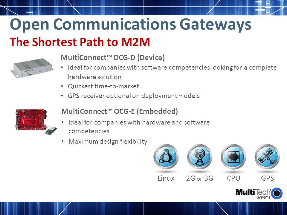 Open Communications Gateways The Shortest Path to M2M