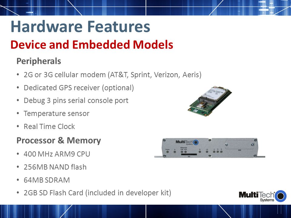 Hardware Features Device and Embedded Models Peripherals