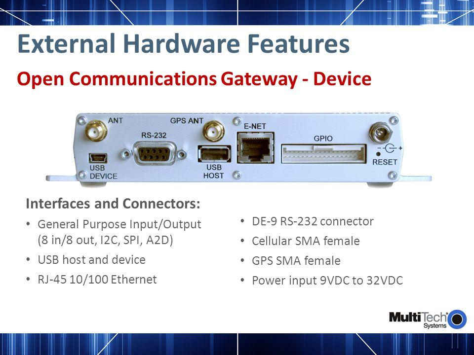 External Hardware Features
