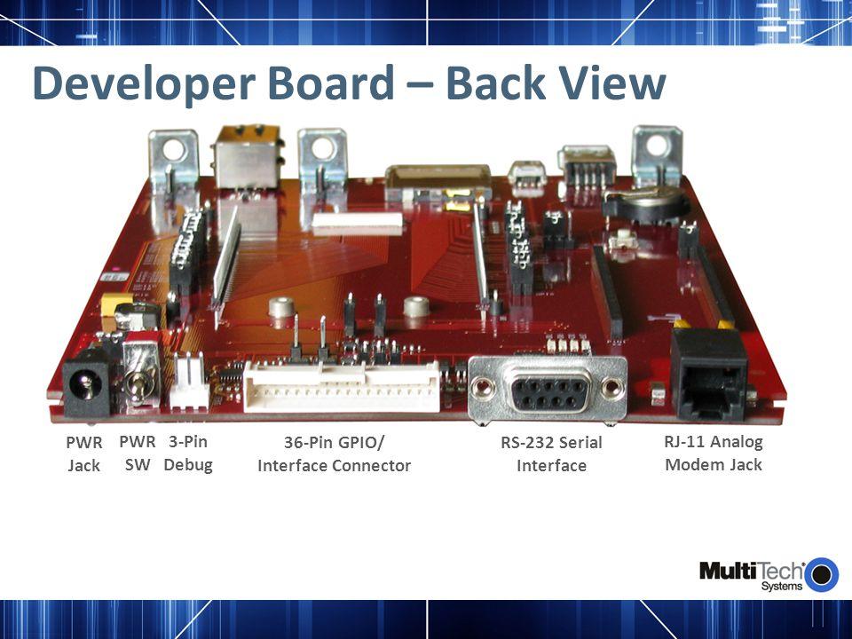Developer Board – Back View