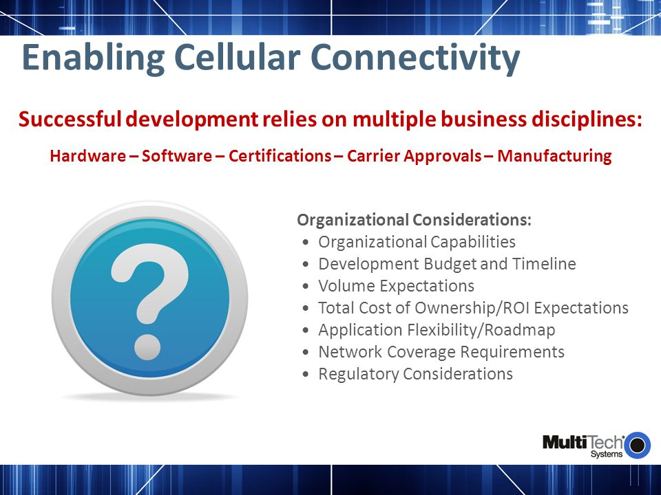 Enabling Cellular Connectivity