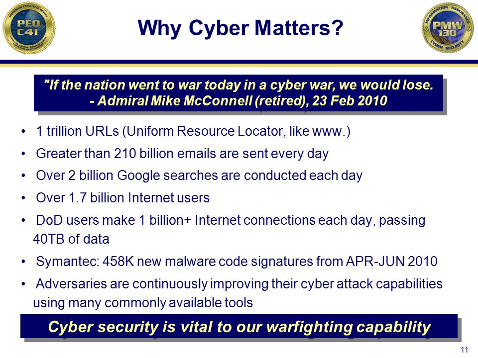 Cyber security is vital to our warfighting capability
