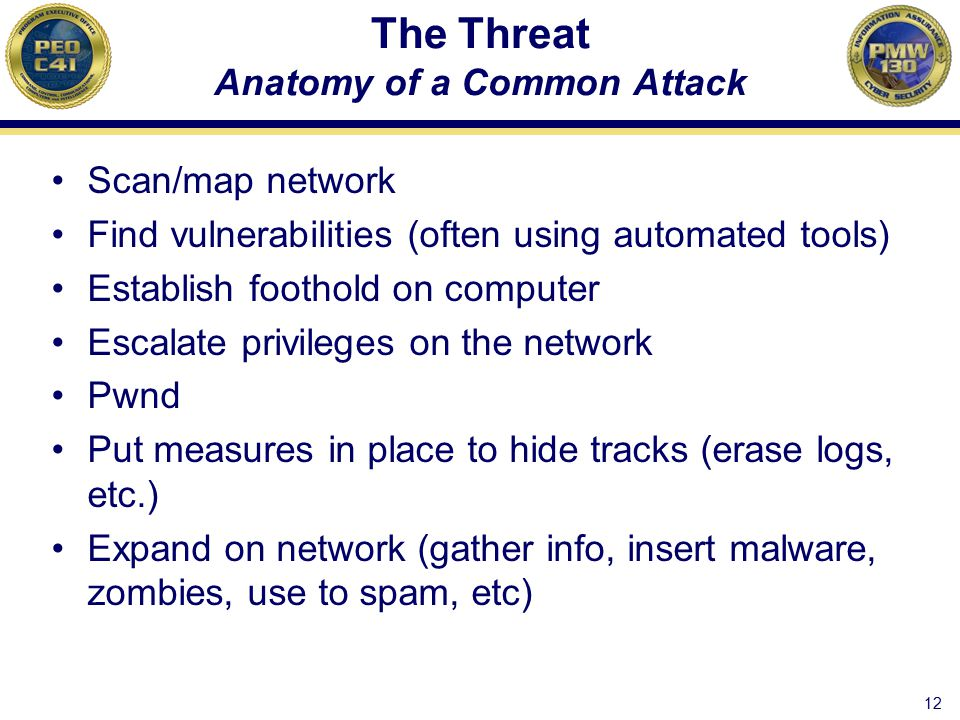 The Threat Anatomy of a Common Attack