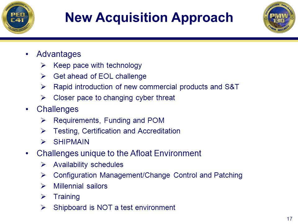 New Acquisition Approach