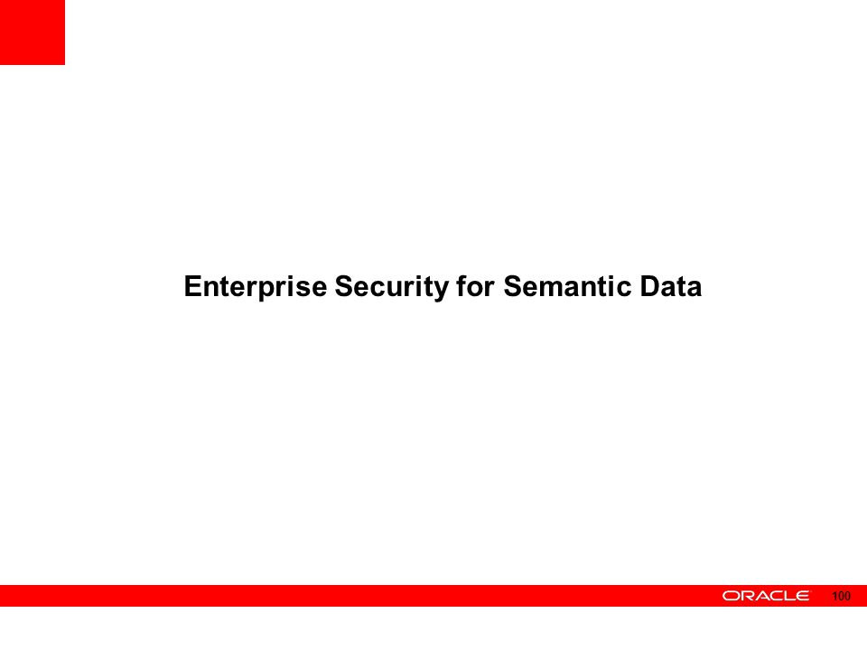 Enterprise Security for Semantic Data