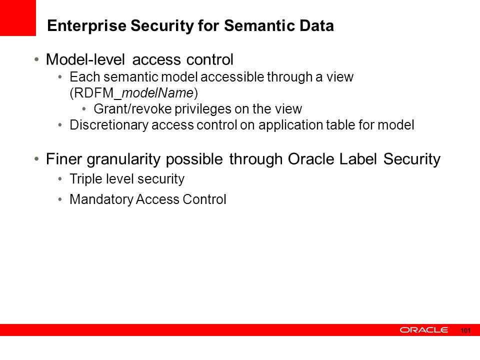 Enterprise Security for Semantic Data