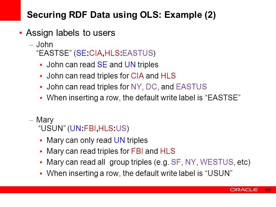 Securing RDF Data using OLS: Example (2)