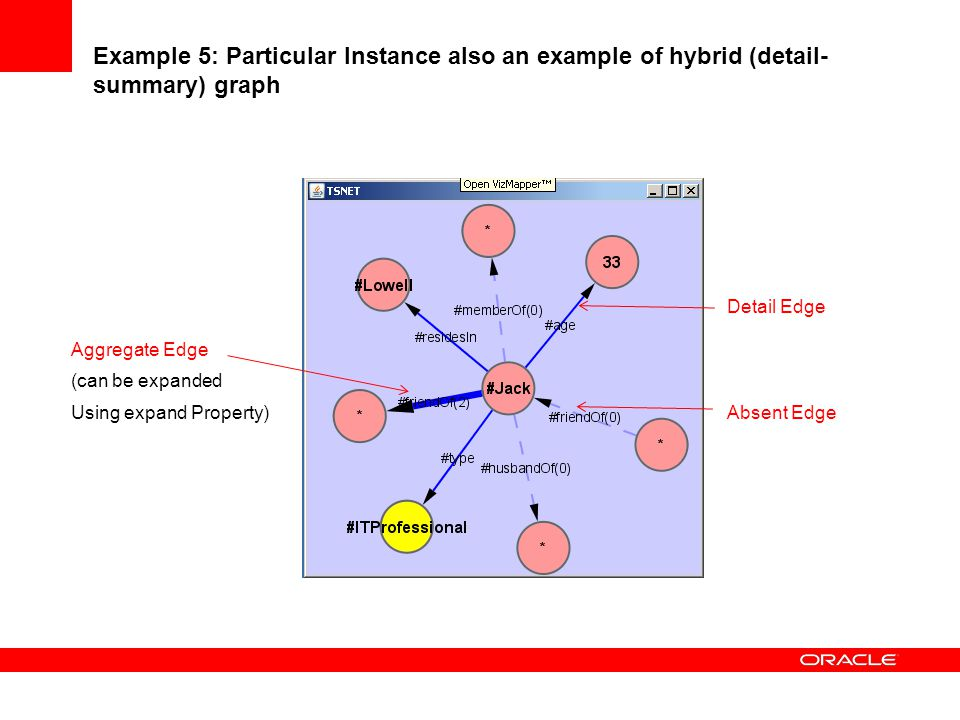 Example 5: Particular Instance also an example of hybrid (detail-summary) graph