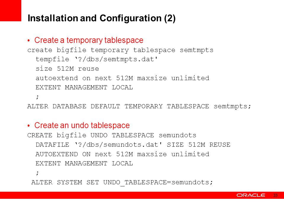 Installation and Configuration (2)