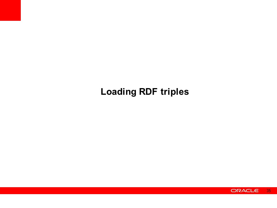 Loading RDF triples 35