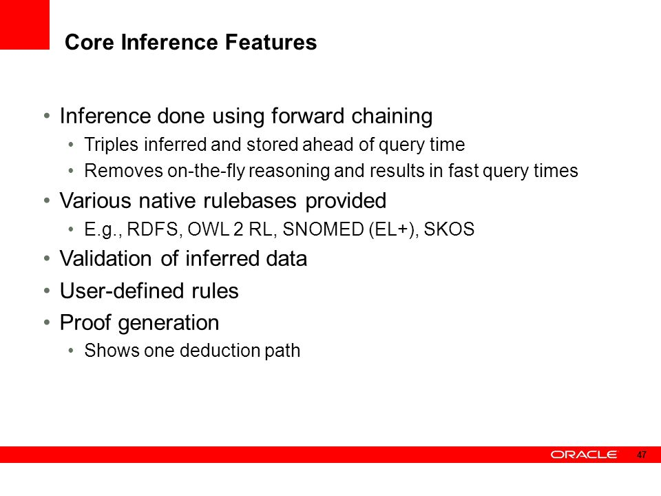Core Inference Features