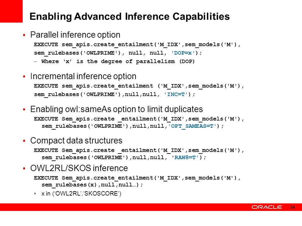 Enabling Advanced Inference Capabilities