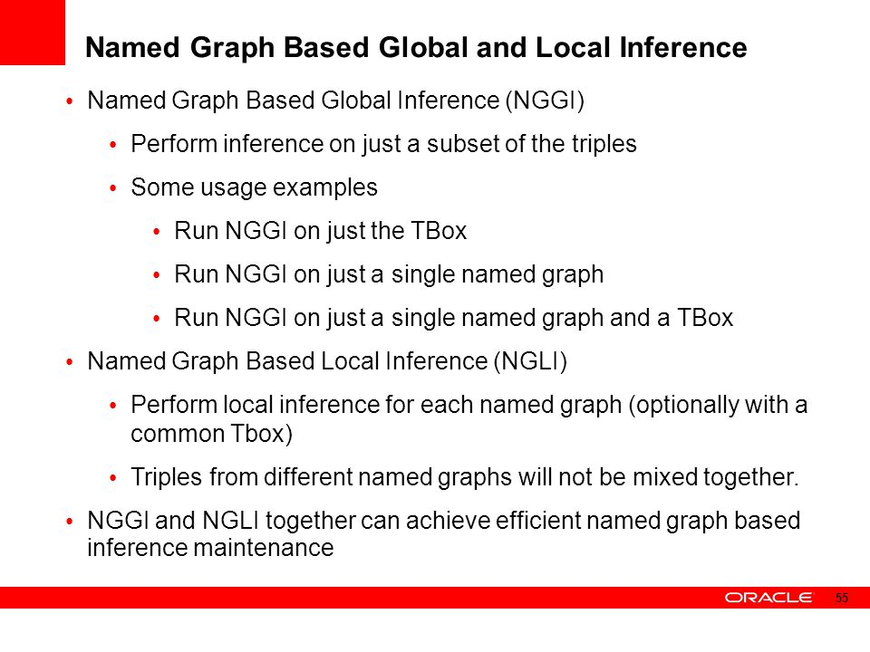Named Graph Based Global and Local Inference