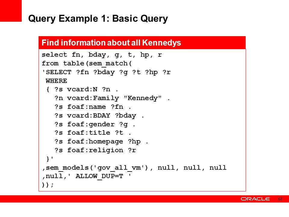 Query Example 1: Basic Query
