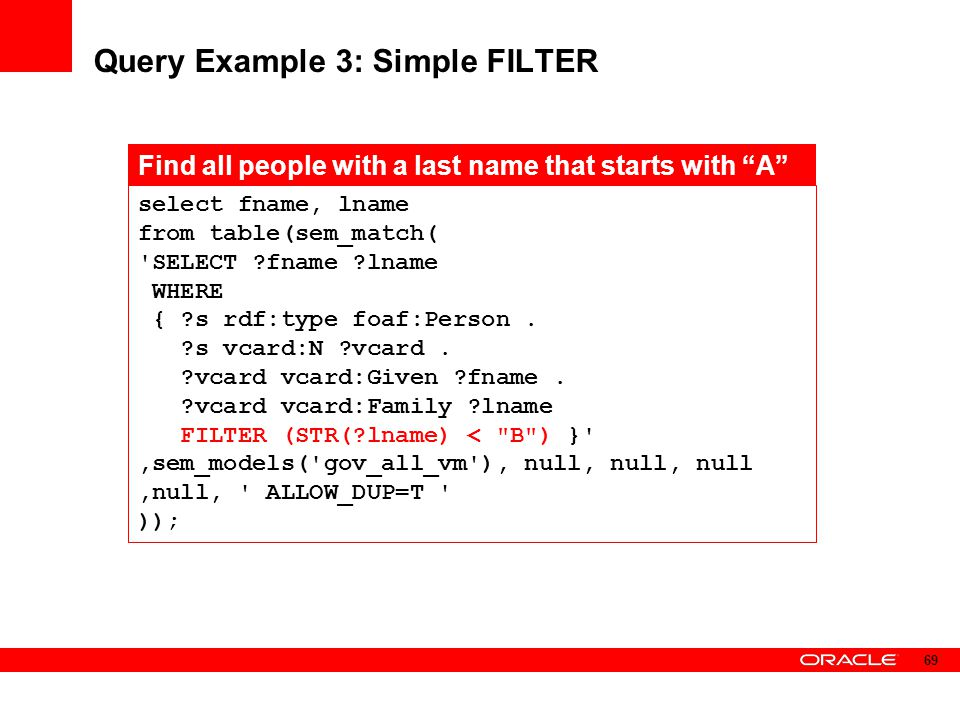 Query Example 3: Simple FILTER