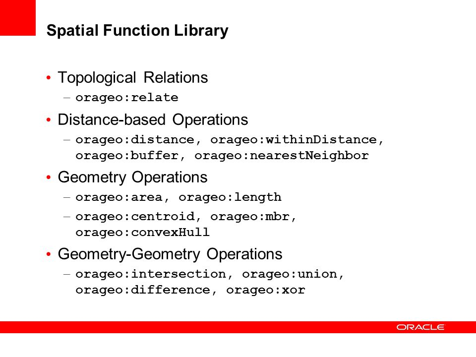 Spatial Function Library