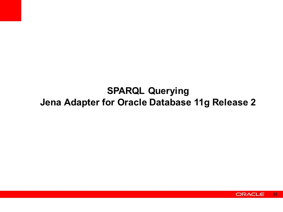 Jena Adapter for Oracle Database 11g Release 2