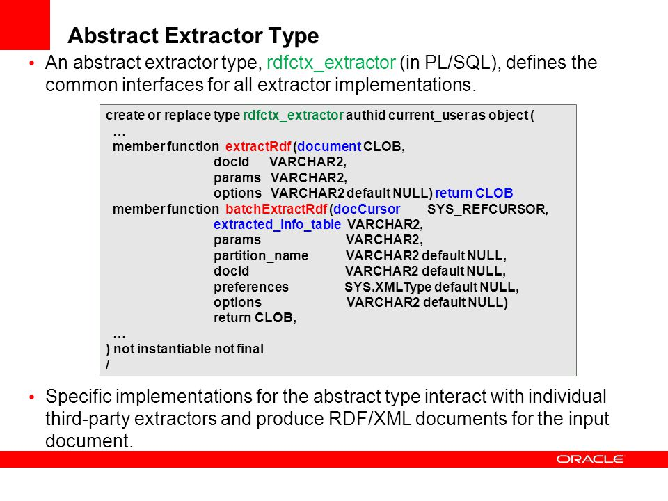 Abstract Extractor Type