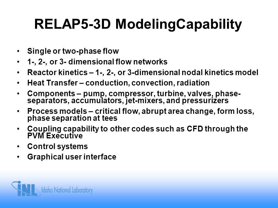 RELAP5-3D ModelingCapability