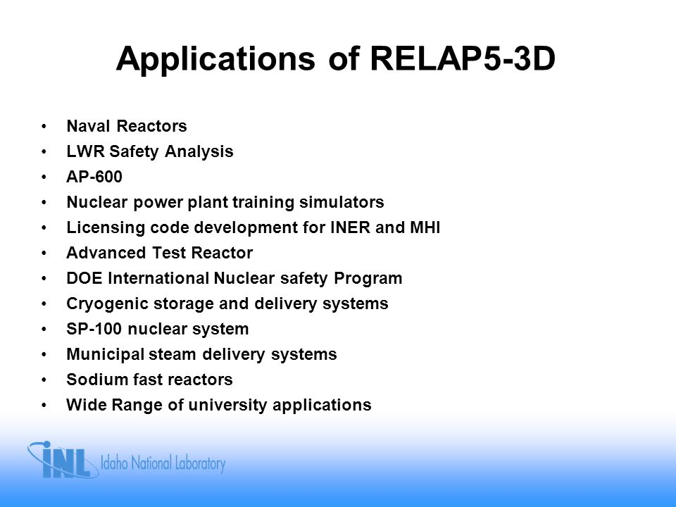Applications of RELAP5-3D