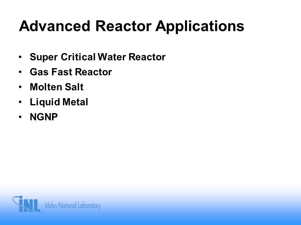 Advanced Reactor Applications