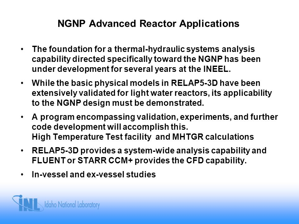 NGNP Advanced Reactor Applications