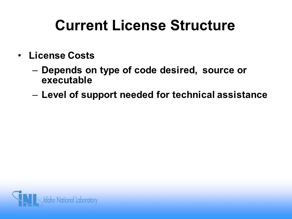 Current License Structure