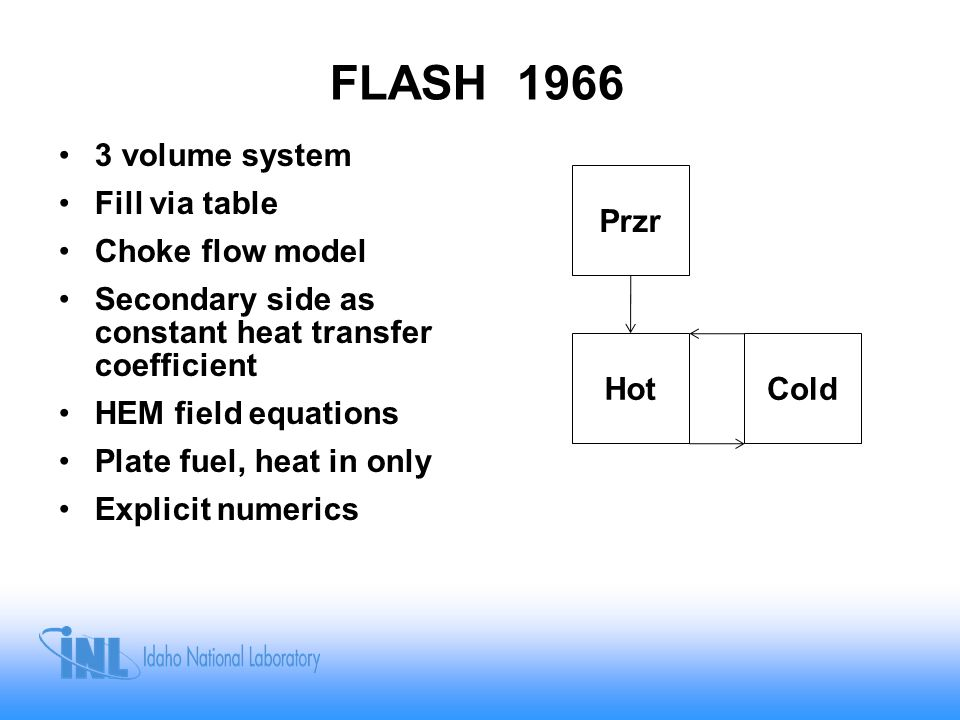 FLASH 1966 3 volume system Fill via table Choke flow model