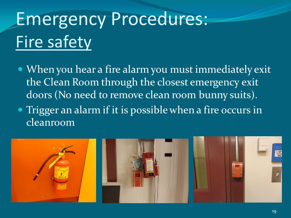 Emergency Procedures: Fire safety