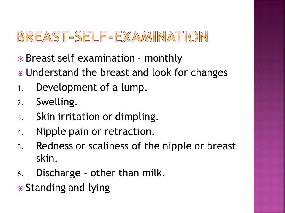 Breast-self-examination