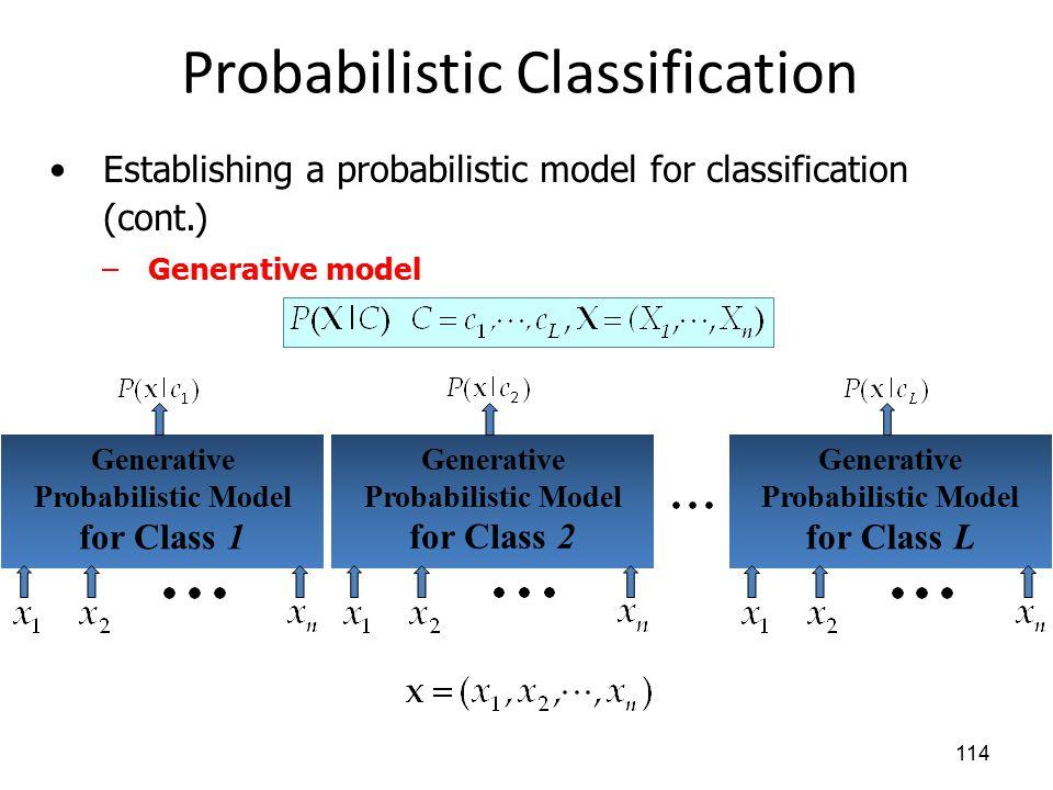 Probabilistic Classification