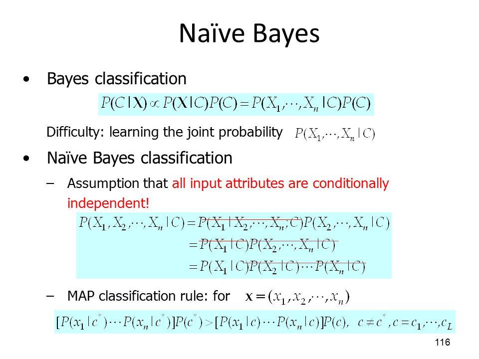 Naïve Bayes Bayes classification Naïve Bayes classification
