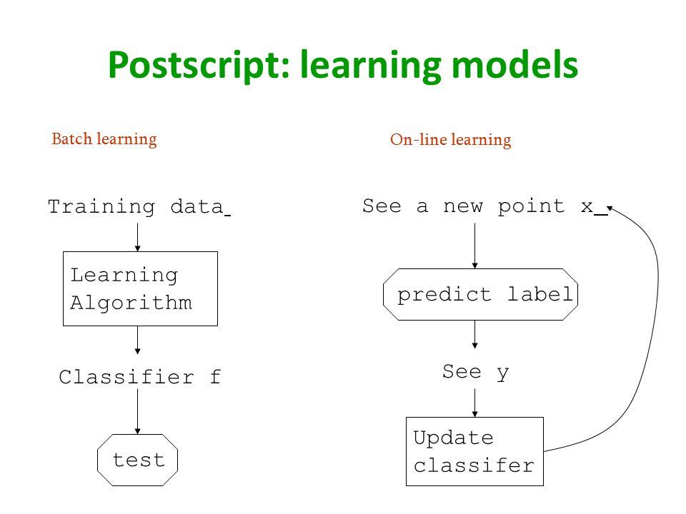 Postscript: learning models