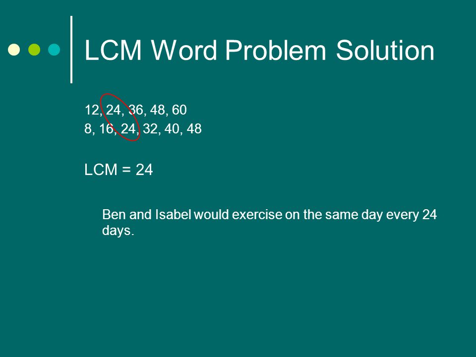 LCM Word Problem Solution