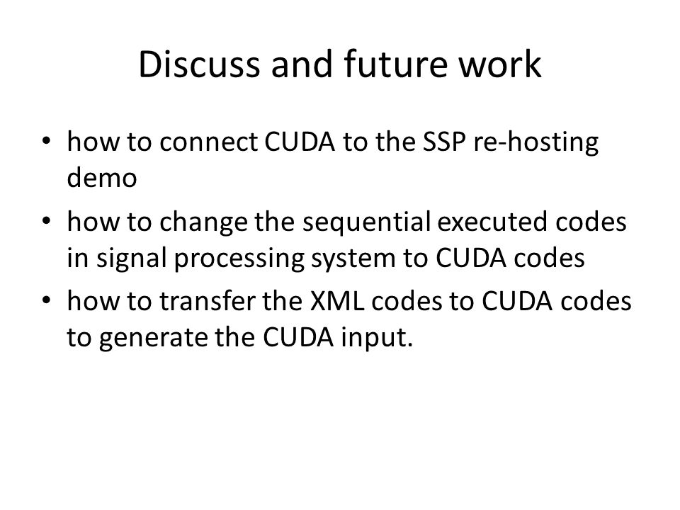 Discuss and future work
