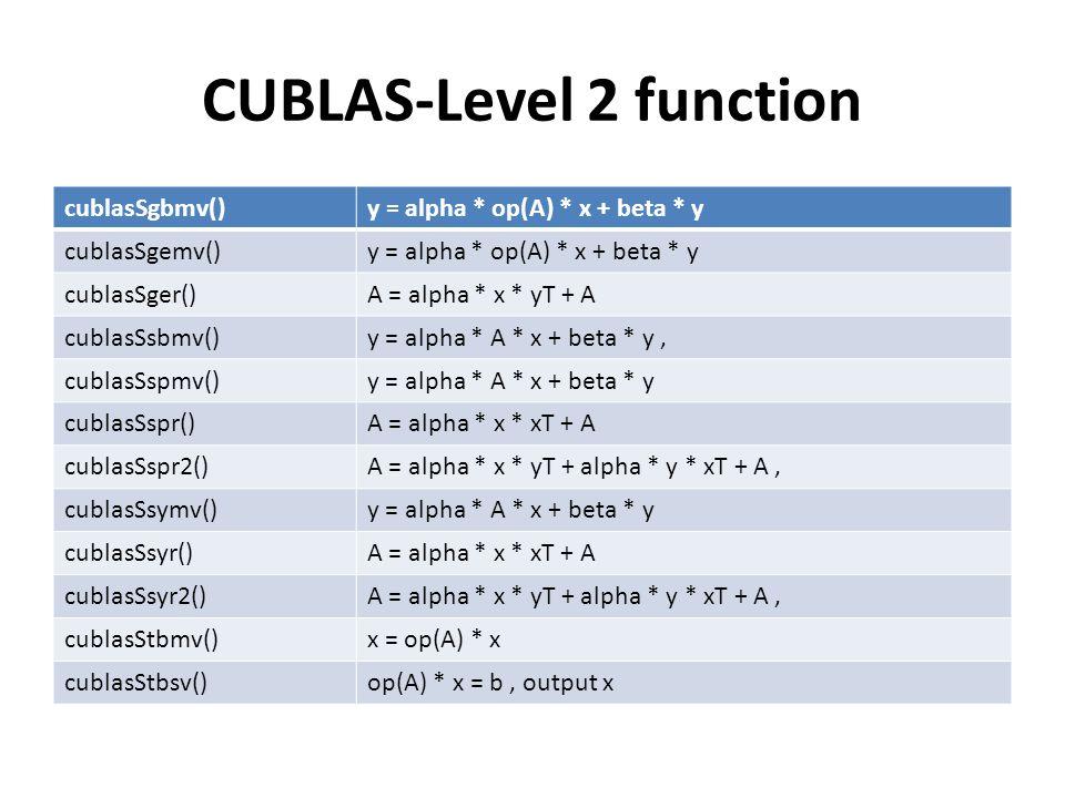 CUBLAS-Level 2 function