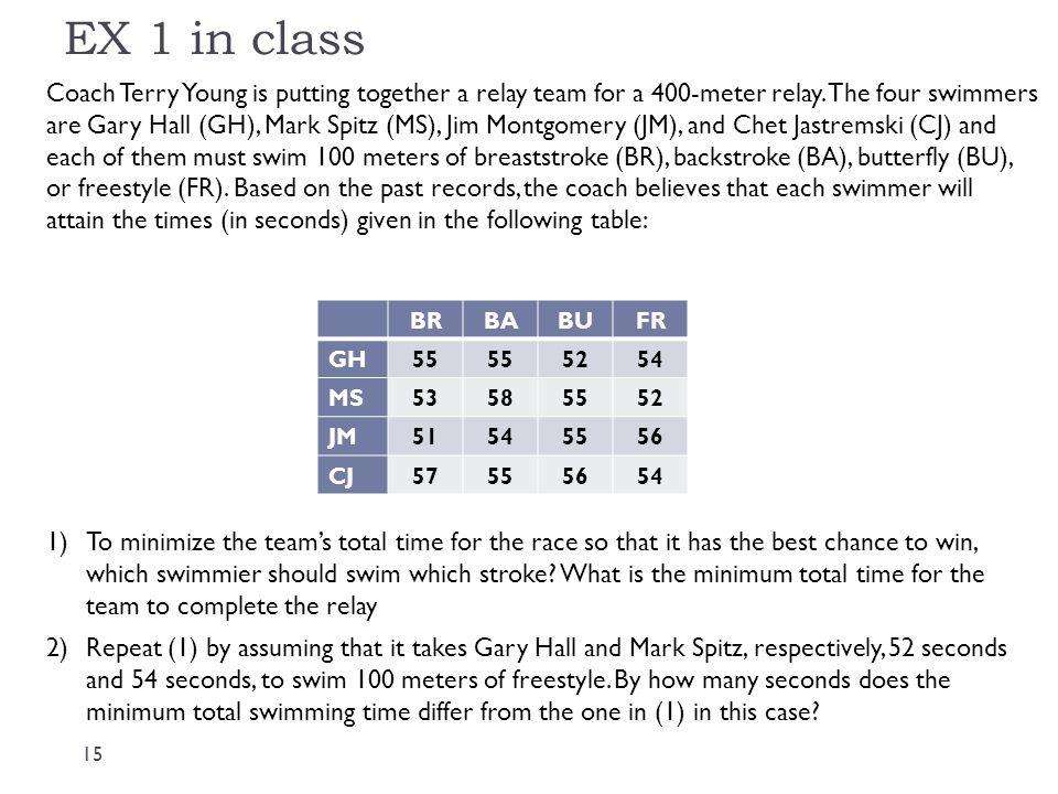 EX 1 in class