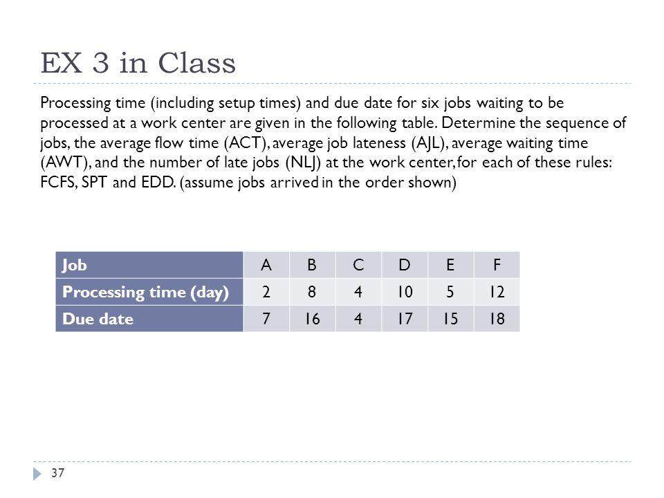 EX 3 in Class