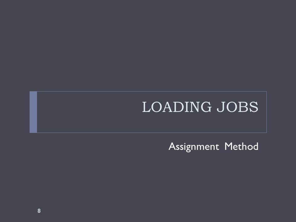 LOADING JOBS Assignment Method