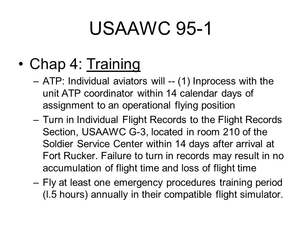 USAAWC 95-1 Chap 4: Training
