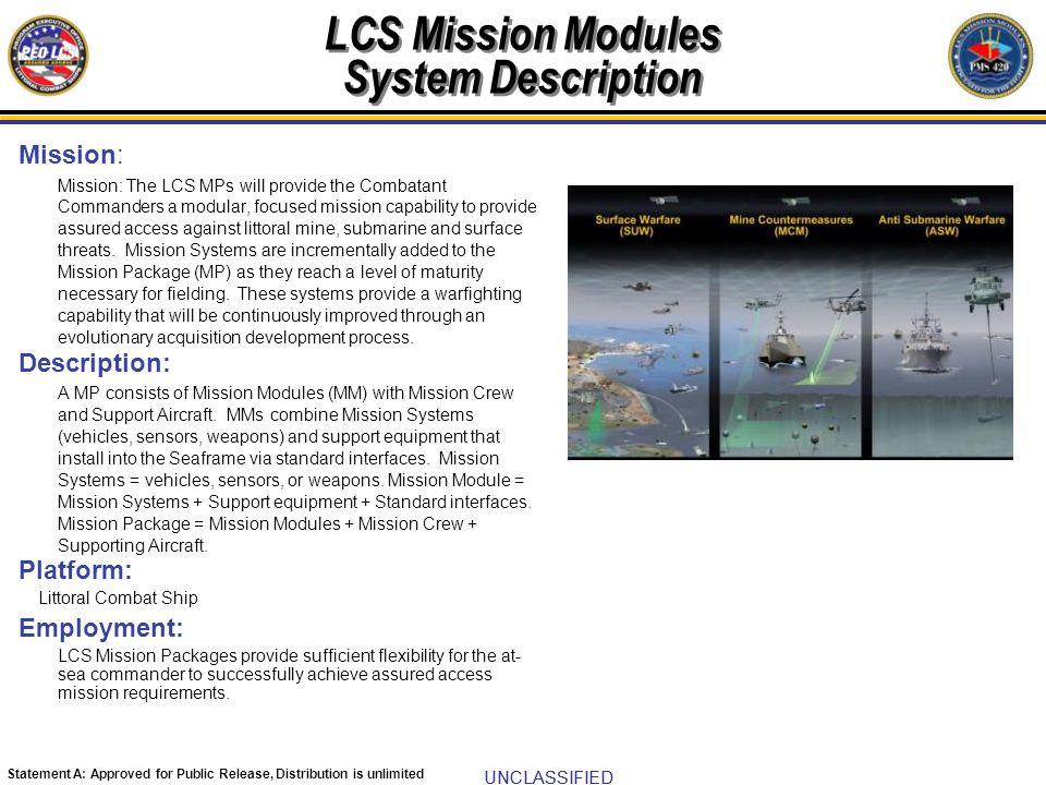 LCS Mission Modules System Description