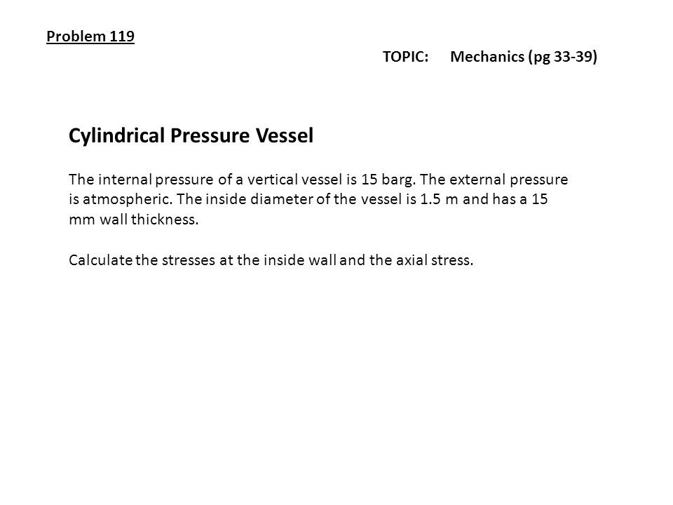 Cylindrical Pressure Vessel
